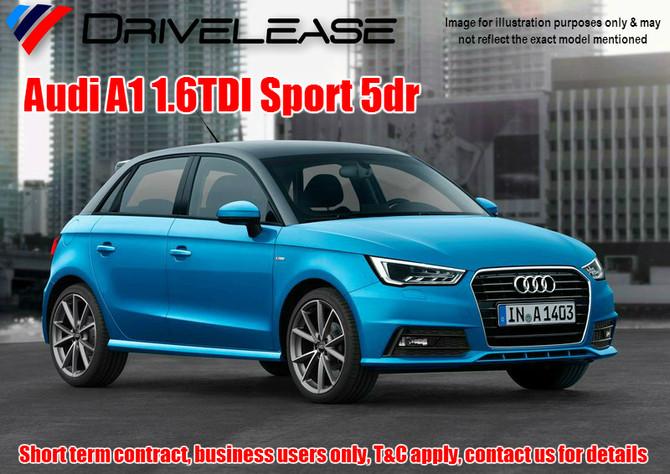 Audi A1 1.6TDI Sport 5dr - only £54.99 + VAT per week - 30 week short term hire contract
