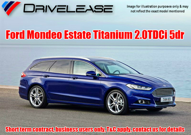 Ford Mondeo Titanium 2.0TDCI Estate - only £77.99 + VAT per week - 26 week short term hire contract
