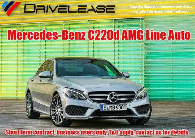 Mercedes-Benz C220d AMG Line Auto - only £94.99 + VAT per week - 52 week short term hire contract