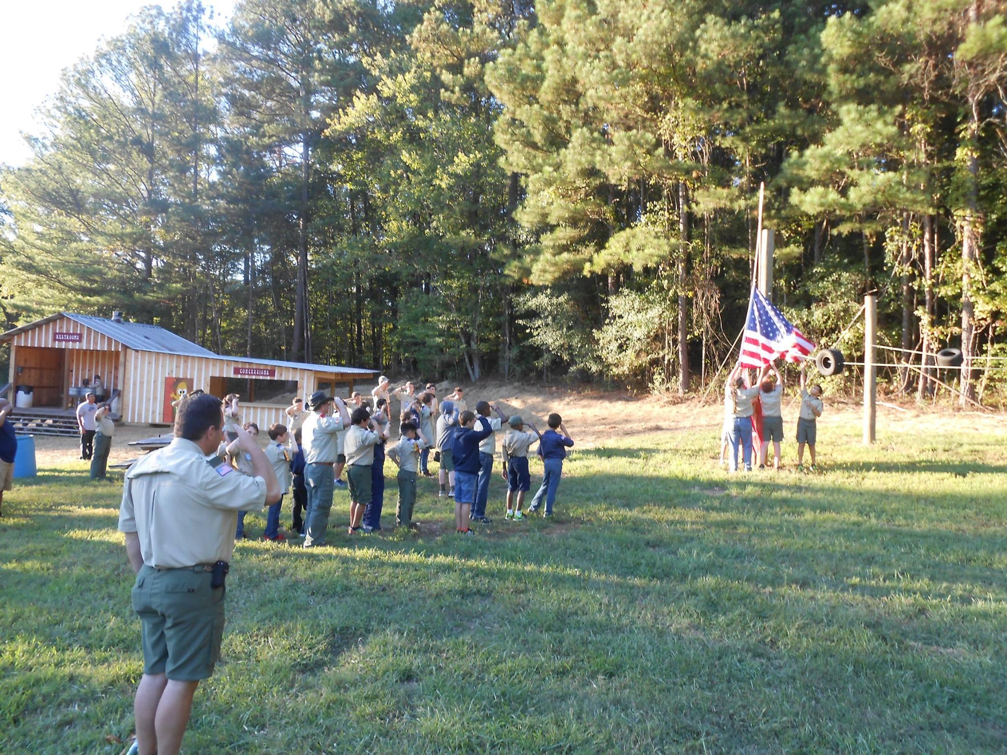 Boy Scouts Flag Raising