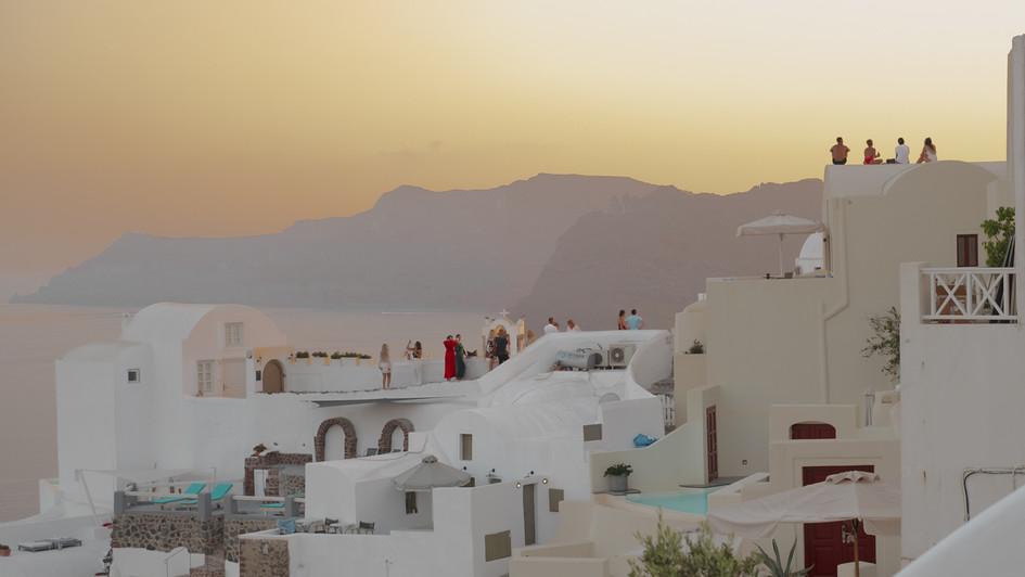Západ Slunce Oia Santorini