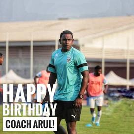 Happy Birthday, Coach Arul!