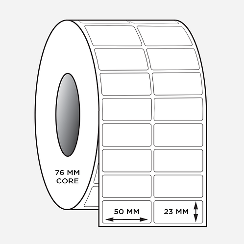 50X23mm Blank Barcode Synthetic Labels