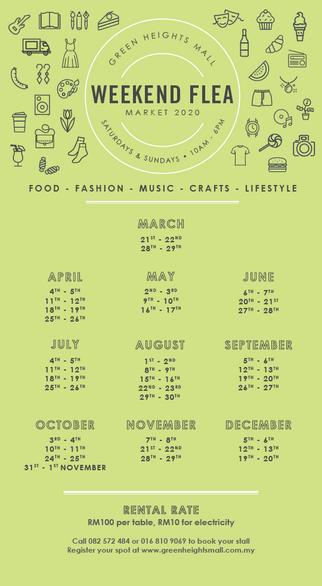 Flea Market Calendar