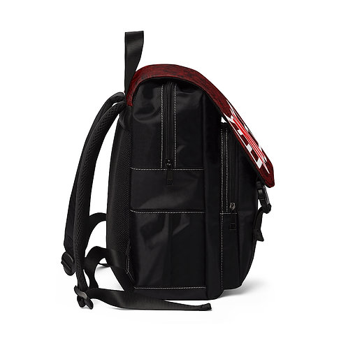 SMC Red Paisley Casual Shoulder Backpack