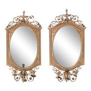 Early 19th Century Giltwood Girandole Mirrors, a Pair