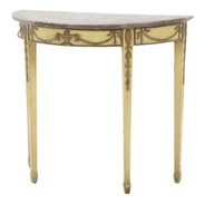 Early 20th Century Adam Style Demilune Console Table
