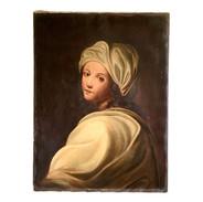 19th Century Oil on Canvas Portrait of Beatrice Cenci