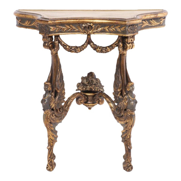 Empire Style Painted and Gilt-Decorated Console Table