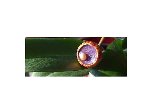 Bague Résine Violette à perle