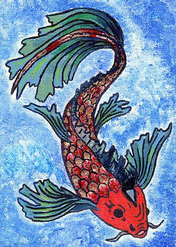 Poisson Rouge et Bleu