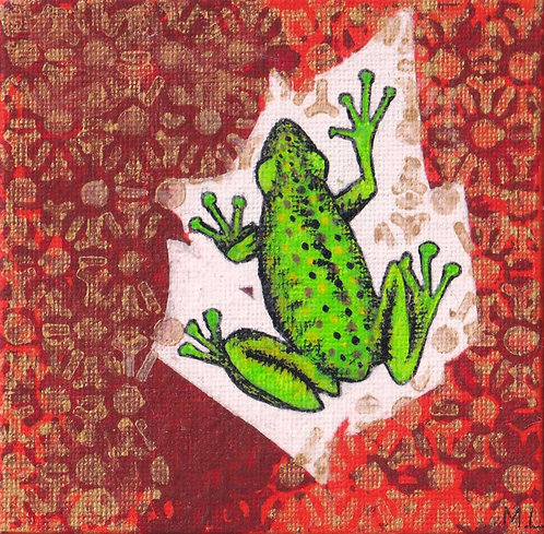 Grenouille Fond Rouge