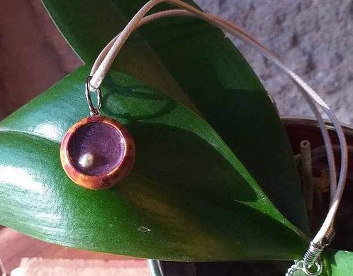 Collier Résine Violette à perle