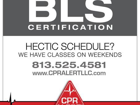 Upcoming BLS Training Saturday July 20 at 10:00 am