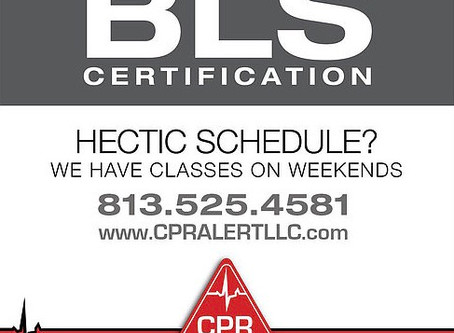 Upcoming BLS Training Sept. 14th at 9 am