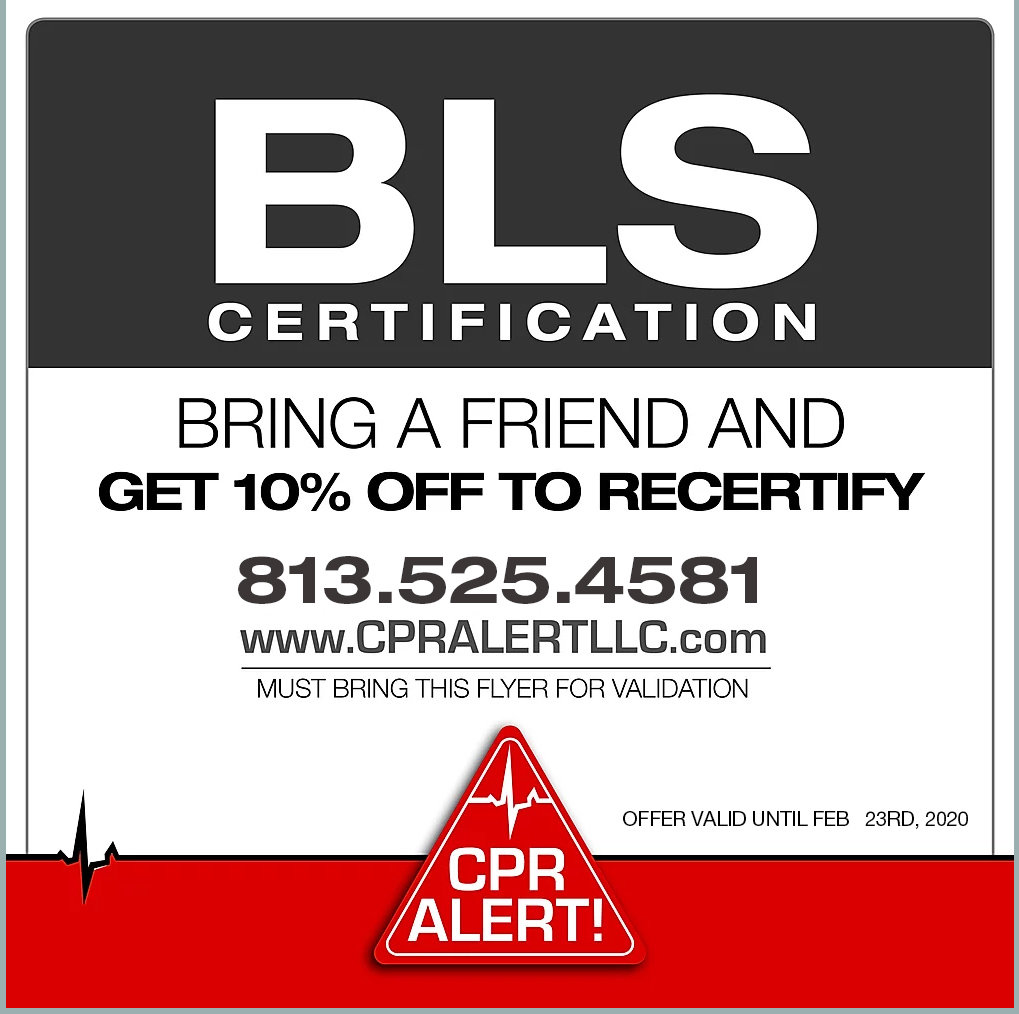 BLS TRAINING SPECIAL 10% OFF