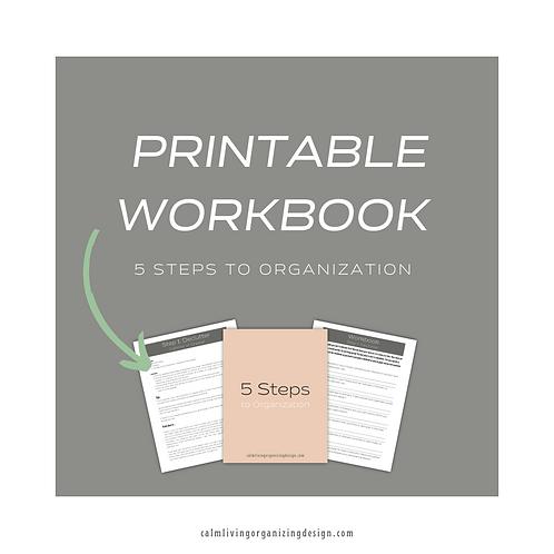 5 Steps to Organization