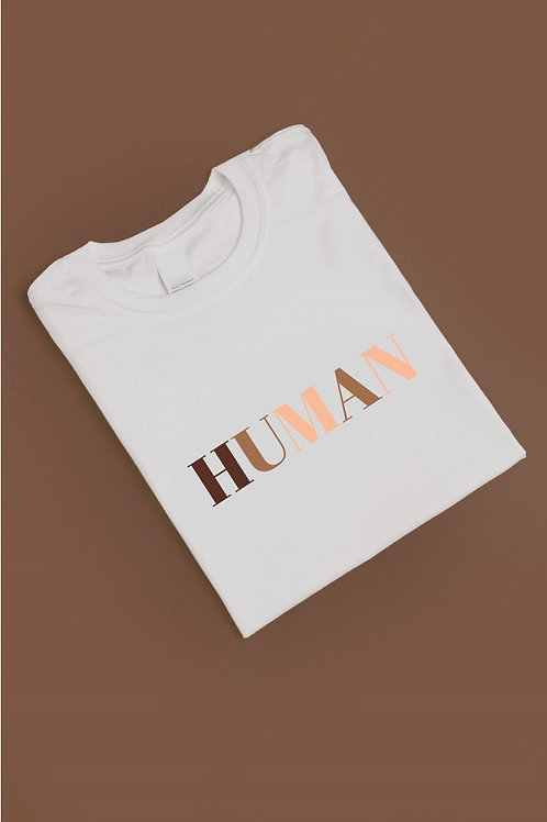 HUMAN Slogan Oversized T-Shirt