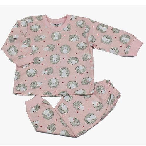 BABY GIRLS ALL OVER HEDGEHOGS PRINT PYJAMA (12-24 MONTHS)