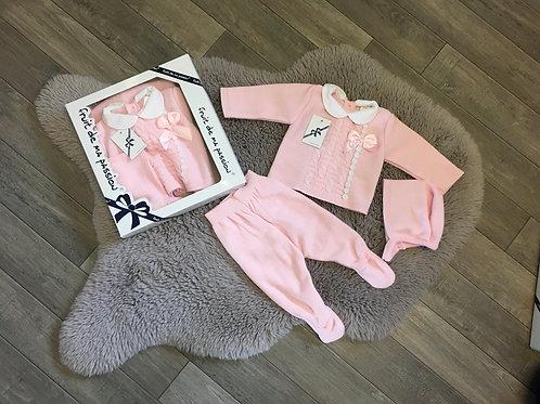 Baby 3pcs Spanish gift set pink