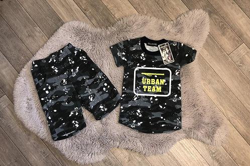 Boys Camo Urban Team Shorts Set