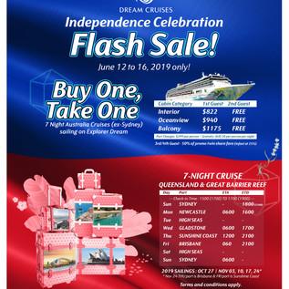 Explorer Dream Flash Sale - Australia -
