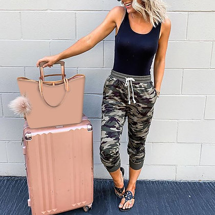 Cropped Camo Joggers