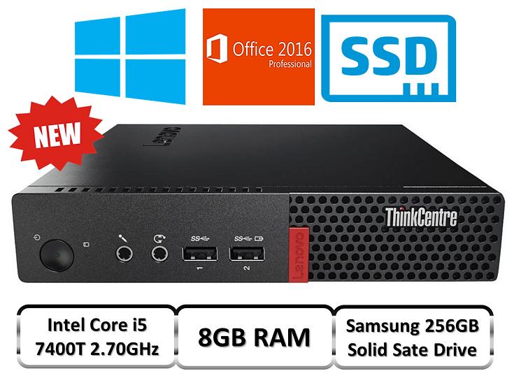 intel i5 Micro PC / Quad Core 7500T / 8GB DDR4 RAM / 256GB SSD / Windows 10 Pro