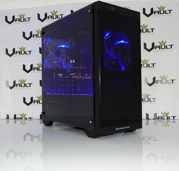 AMD Ryzen 3 2200G Quad Core RX Vega 8 Blue LED Gaming PC