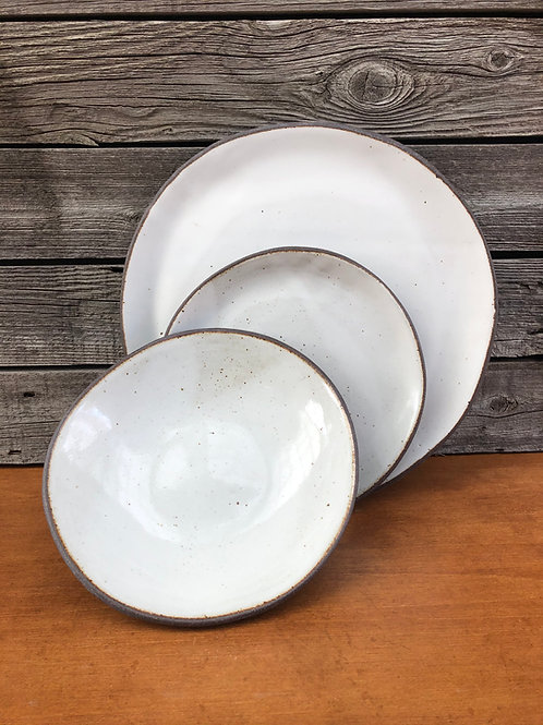 Three Piece Dinnerware Set