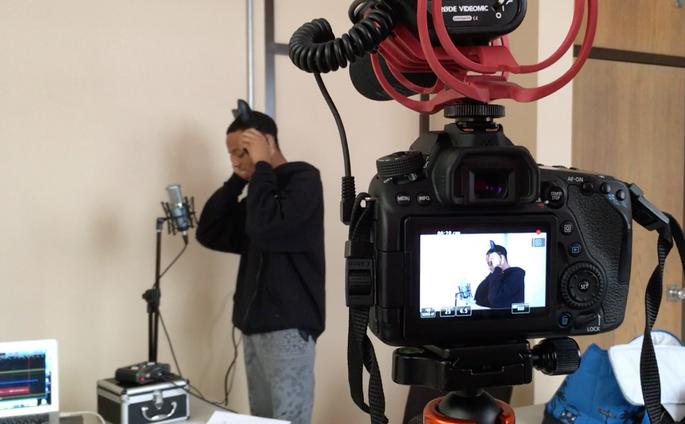 Students recording