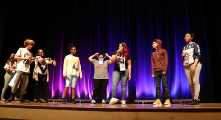 Original song created by the kids of the Columbus Urban Leagues Work Readiness Camp at an OSU theater stage