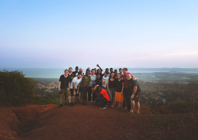 With the team on Bugembe Hill - by josh