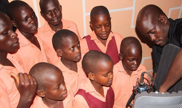 Recording studio in Kampala