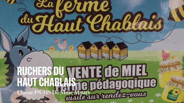 Visite des maternelles aux Ruchers du Haut Chablais