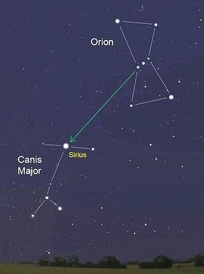 Estrela - Constelacões | Sirius e Orion