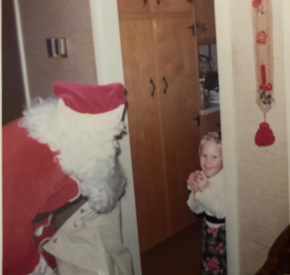 Me and Santa, Christmas Eve 1974