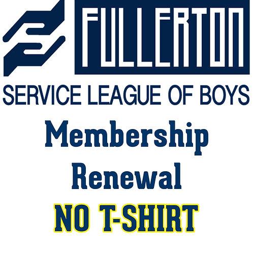 2021-22 Membership Renewal (no t-shirt)