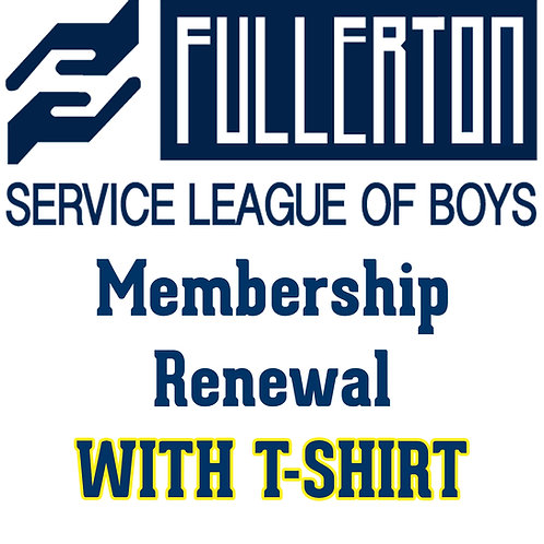 2021-22 Membership Renewal w/T-Shirts