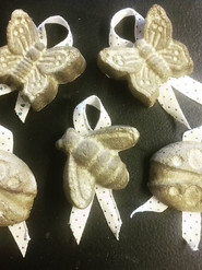 Paper pulp seed bomb decorations