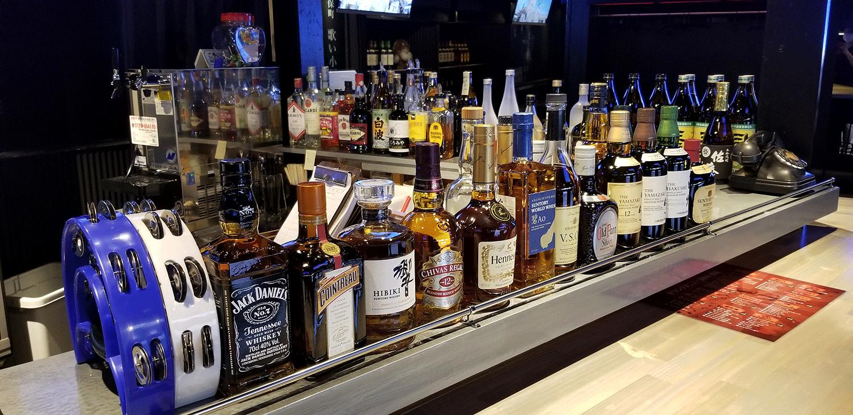 ウィスキーも豊富