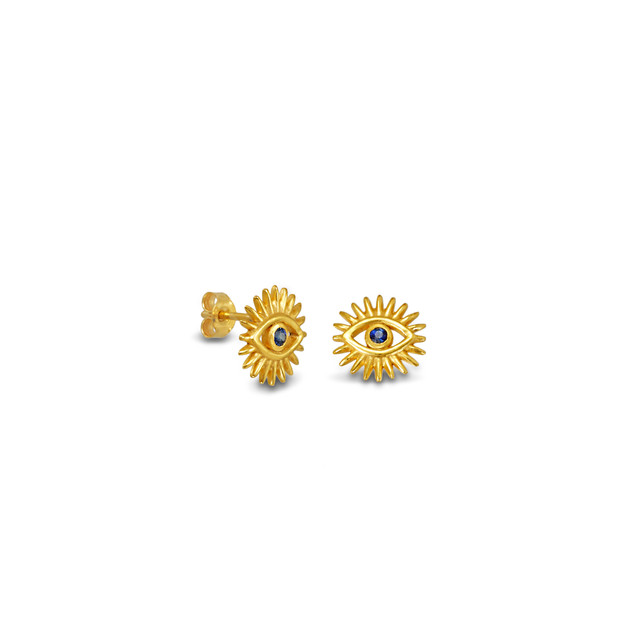 Vergina Sun Studded Earrings