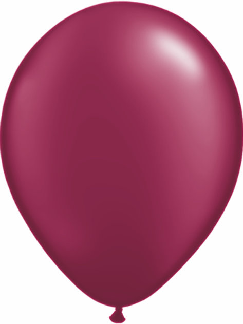 "11"" Qualatex Latex Balloons Pearl Burgundy"