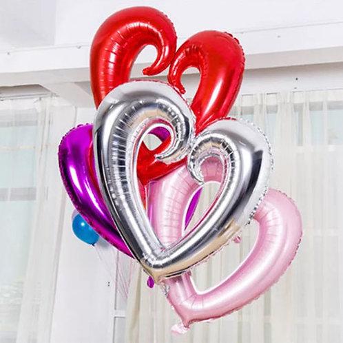 36'' Hallow Heart Mylar Balloon