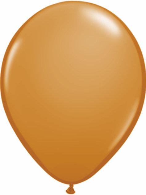 "11"" Qualatex Latex Balloons Mocha Brown"