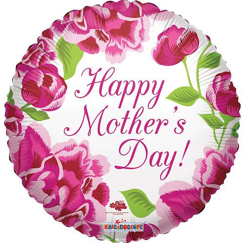 """18"""" HAPPY MOTHER'S DAY BALLOONS CLASSIC ROSES"""