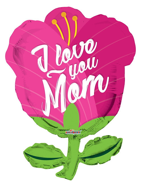 "36"" JUMBO I LOVE YOU MOM TULIP SHAPE BALLOON"