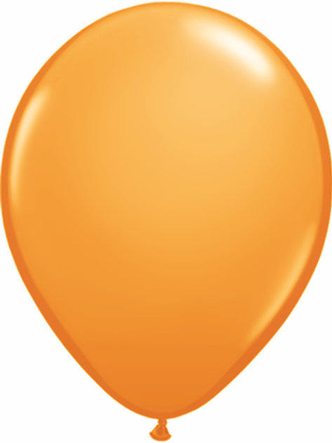 "11""Qualatex Orange Jewel Latex Balloons"