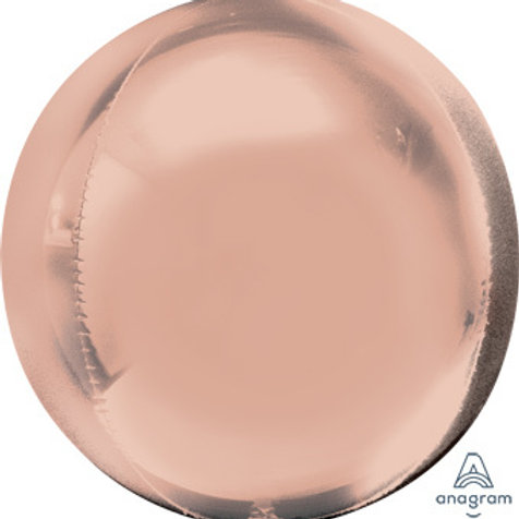 "16"" ORBZ SHINY ROSE GOLD SPHERICAL ROUND BALLOON"