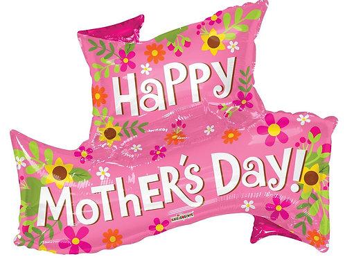 36'' Happy Mother's day jumbo banner